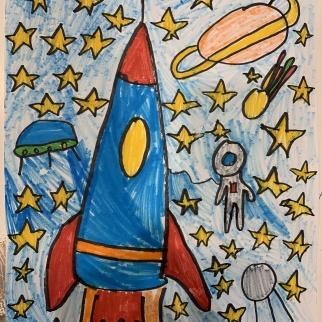 Рисунок-победитель участника Москвина Анна, 9 лет