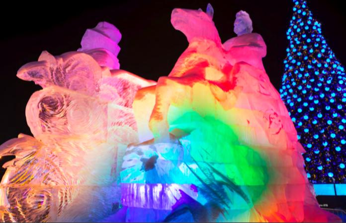 """В Парке Победы на Поклонной горе проходит фестиваль """"Ледовая Москва"""""""