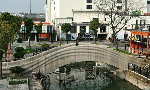 В Китае на 3D-принтере напечатали самый большой пешеходный мост