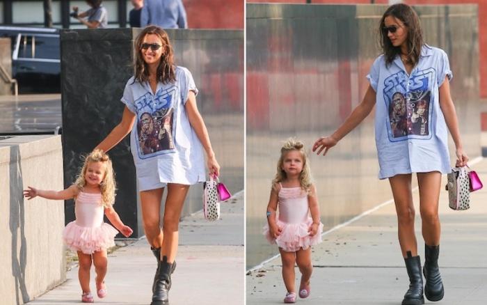 Ирина Шейк нарядила дочку в пышное платье и отправилась с ней на прогулку по Нью-Йорку