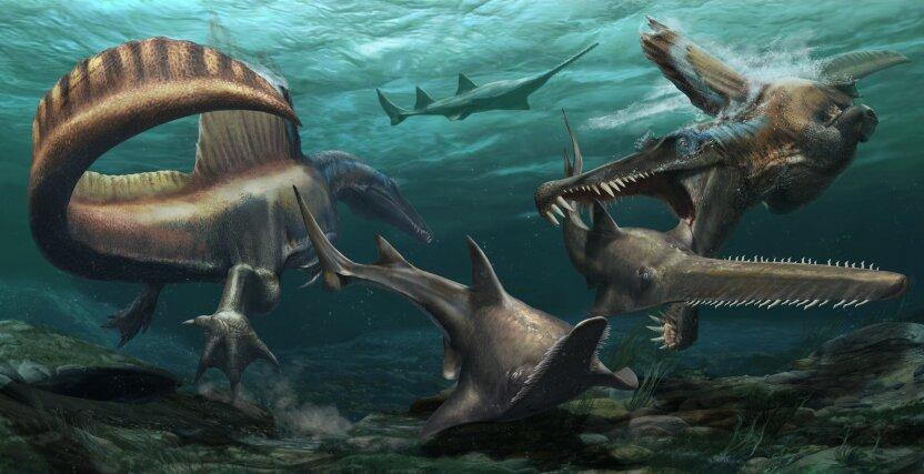 Открыт новый вид водоплавающих динозавров! Они  страшные и опасные